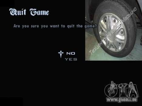 Menü Automobil-Radkappen für GTA San Andreas achten Screenshot