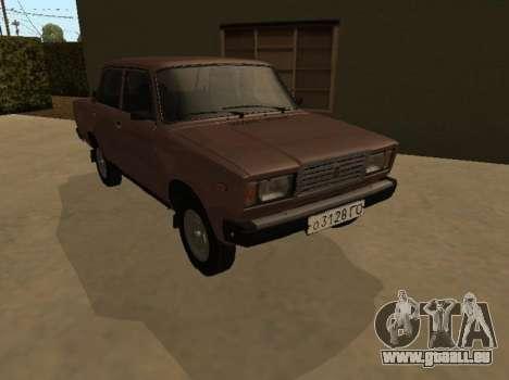 VAZ 2107 Frühen version für GTA San Andreas Rückansicht