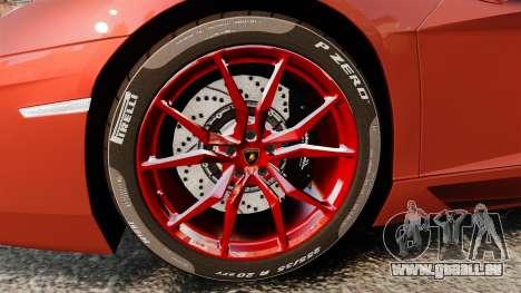 Lamborghini Aventador LP 700-4 Roadster [EPM] pour GTA 4 Vue arrière