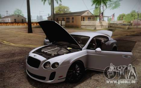 Bentley Continental SuperSports 2010 v2 Finale pour GTA San Andreas salon