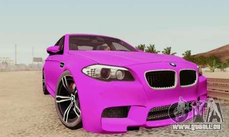 BMW F10 M5 2012 Stock für GTA San Andreas Räder