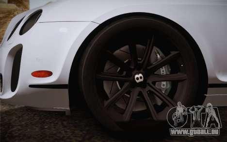 Bentley Continental SuperSports 2010 v2 Finale pour GTA San Andreas sur la vue arrière gauche