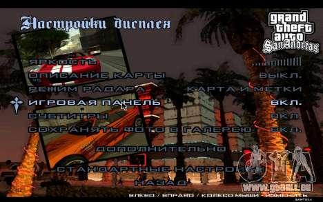 HD-Menüs für GTA San Andreas sechsten Screenshot