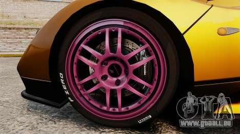 Pagani Zonda C12 S Roadster 2001 PJ2 für GTA 4 Rückansicht
