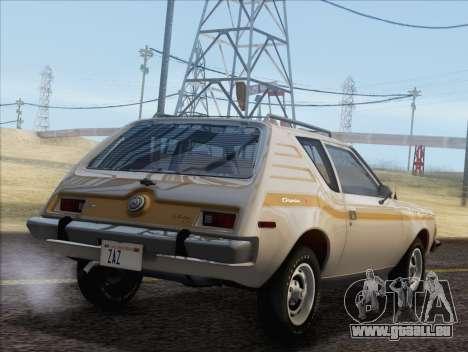 AMC Gremlin X 1973 pour GTA San Andreas laissé vue