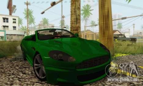 Aston Martin DBS Volante pour GTA San Andreas sur la vue arrière gauche