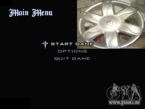 Menu Automobile Chapeaux De Roues pour GTA San Andreas deuxième écran