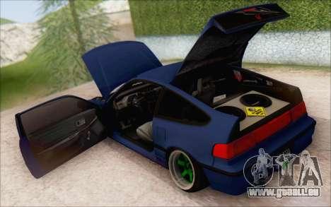 Honda cr-x, Turquie pour GTA San Andreas sur la vue arrière gauche