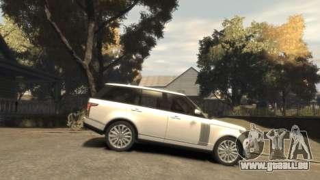 Range Rover Vogue 2014 pour GTA 4 est une vue de l'intérieur