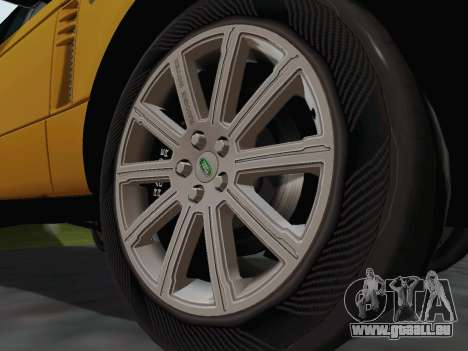 Range Rover Supercharged Series III pour GTA San Andreas vue intérieure