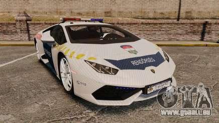 Lamborghini Huracan Hungarian Police [Non-ELS] pour GTA 4