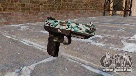 Pistolet FN Cinq à sept Aqua Camo pour GTA 4