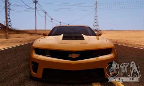 Chevrolet Camaro ZL1 2014 für GTA San Andreas Innenansicht