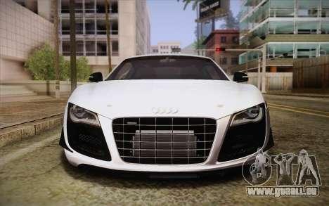 Audi R8 GT 2012 für GTA San Andreas Innenansicht