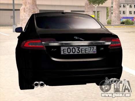 Jaguar XFR für GTA San Andreas Rückansicht