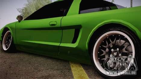 Infernus Racing Edition pour GTA San Andreas sur la vue arrière gauche