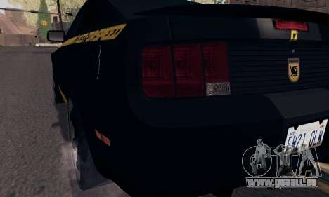 Ford Mustang Shelby Terlingua 2008 NFS Edition pour GTA San Andreas salon