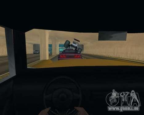 Caddy Monster Truck für GTA San Andreas Innenansicht
