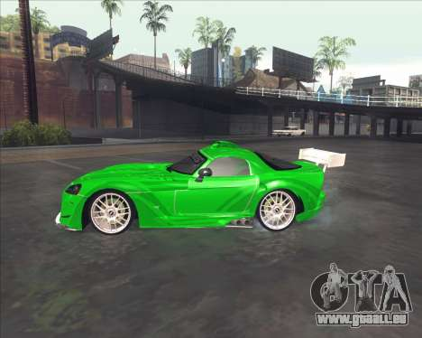 Dodge Viper SRT de NFS Most Wanted pour GTA San Andreas sur la vue arrière gauche