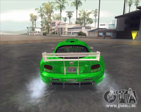 Dodge Viper SRT de NFS Most Wanted pour GTA San Andreas vue de droite