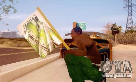 Ein Schild Werbung für Bier für GTA San Andreas her Screenshot