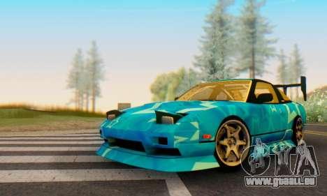 Nissan 240SX Blue Star pour GTA San Andreas laissé vue