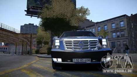 Cadillac Escalade pour GTA 4 est un côté