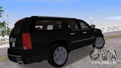 Cadillac Escalade ESV Luxury 2012 pour une vue GTA Vice City de la gauche