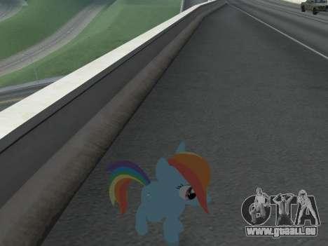 Rainbow Dash pour GTA San Andreas sixième écran