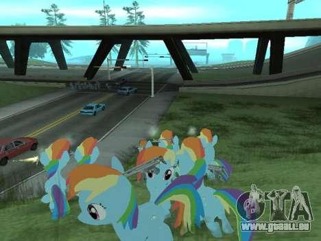 Rainbow Dash pour GTA San Andreas neuvième écran