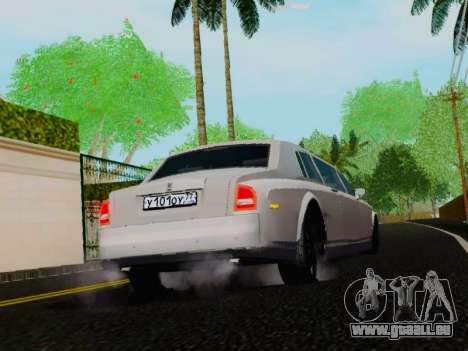 Rolls-Royce Phantom Limo pour GTA San Andreas vue de droite