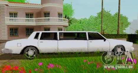 Tahoma Limousine pour GTA San Andreas laissé vue