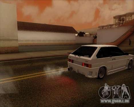 VAZ 2112 Accordables pour GTA San Andreas vue de dessus