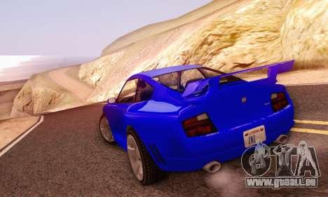 Pfister Comet V1.0 für GTA San Andreas Innenansicht