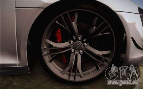 Audi R8 GT 2012 für GTA San Andreas zurück linke Ansicht