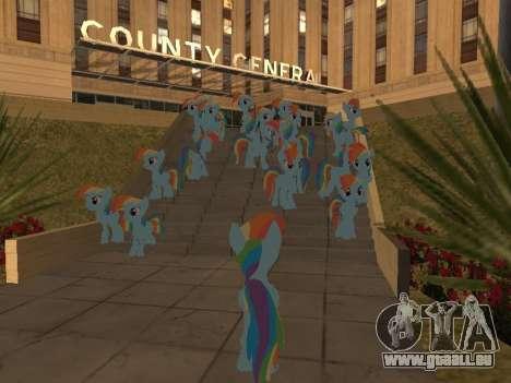 Rainbow Dash für GTA San Andreas fünften Screenshot