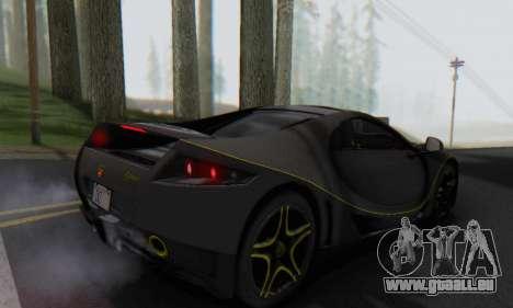 GTA Spano 2014 Carbon Edition pour GTA San Andreas laissé vue