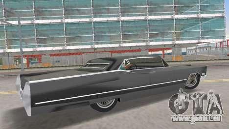 Cadillac DeVille 1967 Lowrider pour une vue GTA Vice City de la gauche