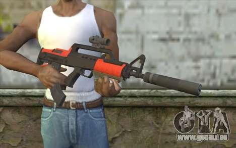 Fusil BullPup из GTA 5 pour GTA San Andreas troisième écran