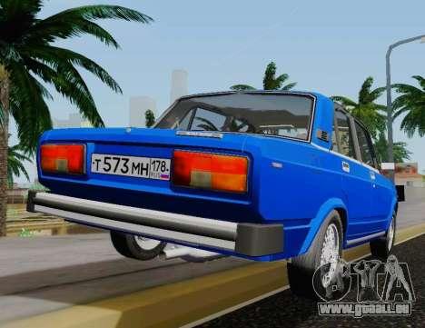 VAZ 2105 Riva pour GTA San Andreas sur la vue arrière gauche