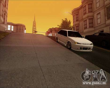 VAZ 2112 Tuneable für GTA San Andreas Rückansicht