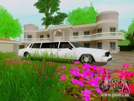 Tahoma Limousine pour GTA San Andreas vue intérieure