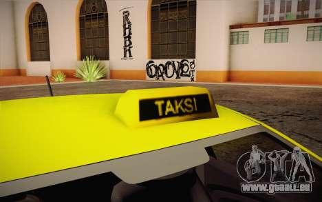 Hyundai Accent Taxi 2013 für GTA San Andreas zurück linke Ansicht