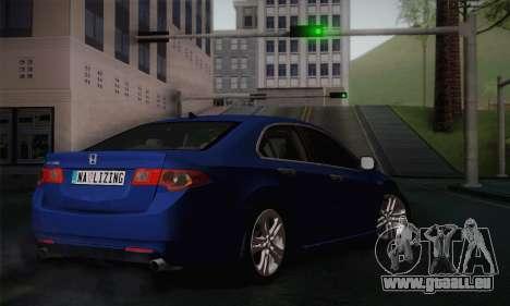 Honda Accord 2010 pour GTA San Andreas laissé vue