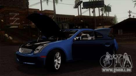 Infiniti G35 Coupe (V35) 2003 für GTA San Andreas zurück linke Ansicht