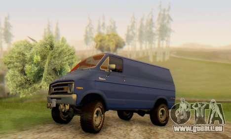 Dodge Tradesman Van 1976 pour GTA San Andreas vue de dessous