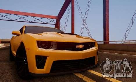 Chevrolet Camaro ZL1 2014 für GTA San Andreas rechten Ansicht