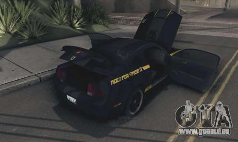 Ford Mustang Shelby Terlingua 2008 NFS Edition pour GTA San Andreas vue intérieure
