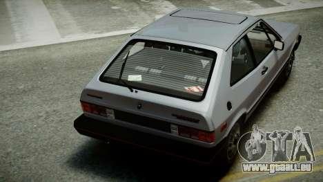 Volkswagen Scirocco S 1981 pour GTA 4 est une vue de l'intérieur