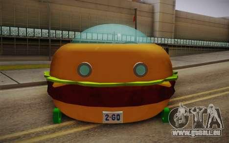 Spongebobs Burger Mobile pour GTA San Andreas vue de droite